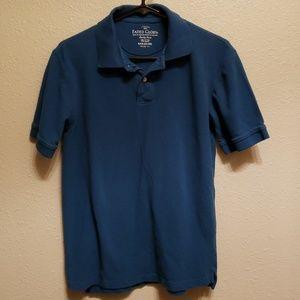 Mens blue polo shirt